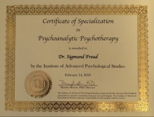Specialization Certificate in Psychoanalytic Psychotherapy