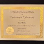 Certificate of Advanced Study in Psychoanalytic Psychotherapy